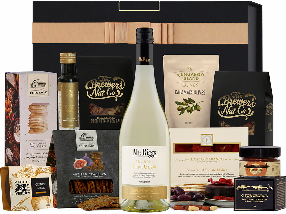 White Wine & Nibbles Hamper