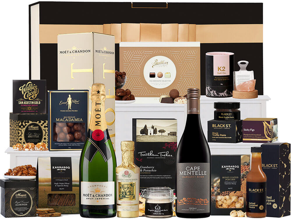 Gourmet Food Hamper with Champagne