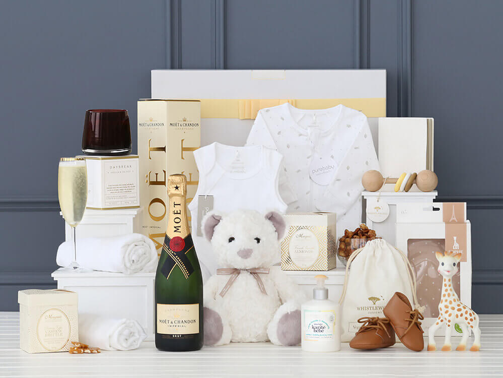Iconic Baby Essentials Hamper with Moët