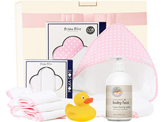 Little Bubba Bathtime Hamper in Pink