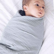 Two Grey Bamboo Muslin Wraps by Bubba Blue