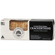 Valley Produce Cracker Thins Cracked Pepper 100g