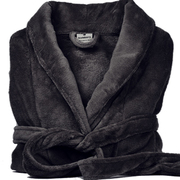 Luxury Plush Bathrobe in Charcoal