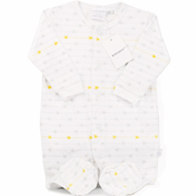 Marquise Grey & Yellow Arrow Studsuit