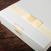 Cream Gift Box With Pale Yellow Ribbon